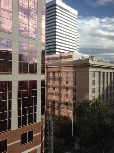 View from the Heathman hotel, Portland