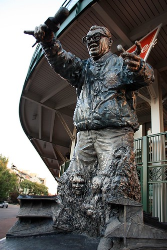 Harry Caray at Wrigley Field Stadium - Chicago
