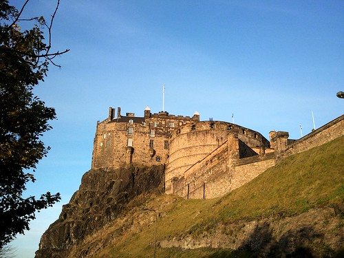Edinburgh Castle, up on the hill
