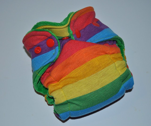 Bumstoppers Newborn Rainbow Hybrid Fitted **New Style**