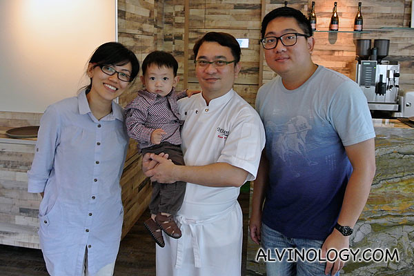 Chef Kenny Yeo with my family