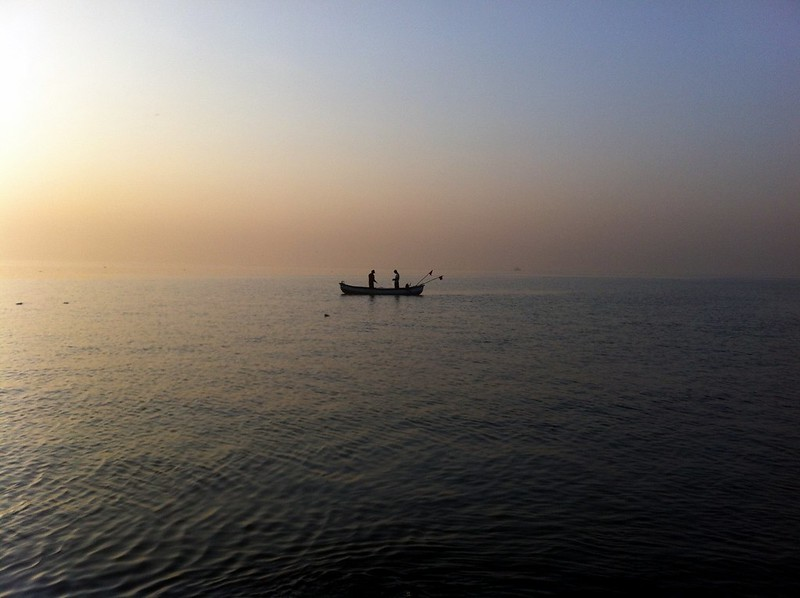 Fishing boats at Madh Fort