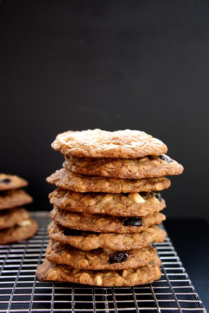 maple, cherry, white chocolate and oatmeal cookies