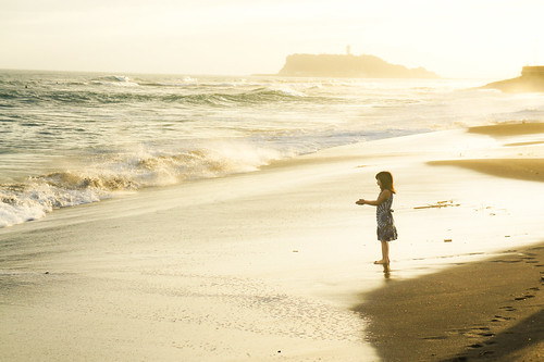 little girl by the sea