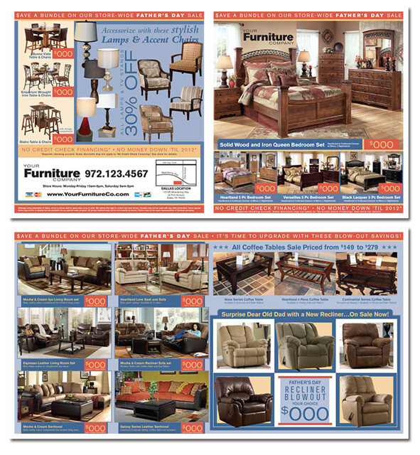 Spec Ad Furniture Father's Day theme