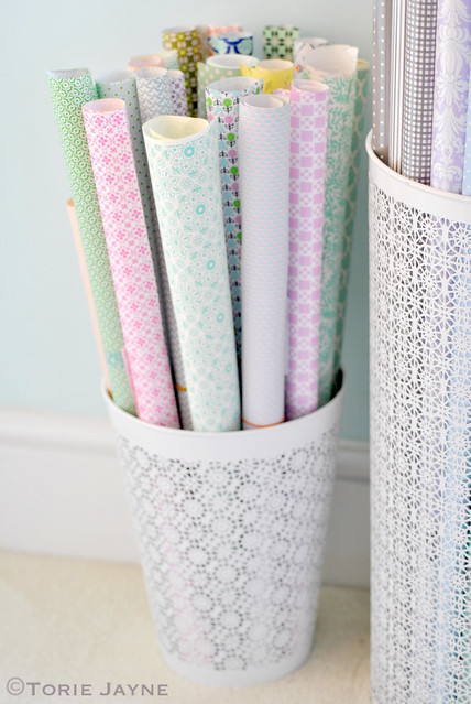 Gift wrap baskets