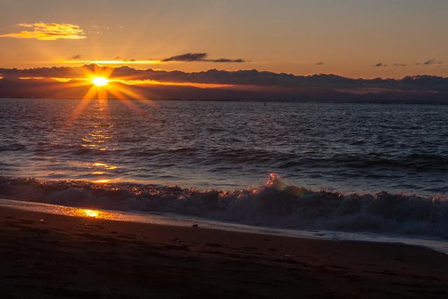 Winter Sunset on Wreck Beach