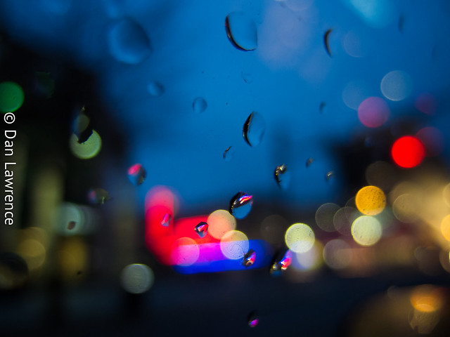 About Tonight Rainy Bokeh Edition - January 14, 2013