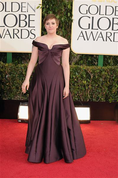 Golden Globe Lena Dunham 2013