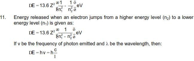 CBSE Class 12 Physics Notes: Dual Nature of Radiation and Matter - Important Formulas