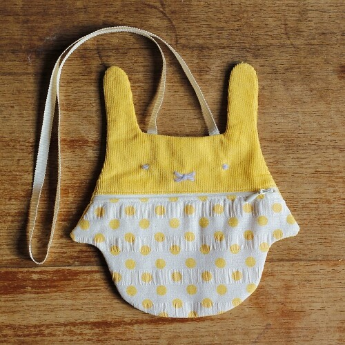 yellow bunny purse/bag