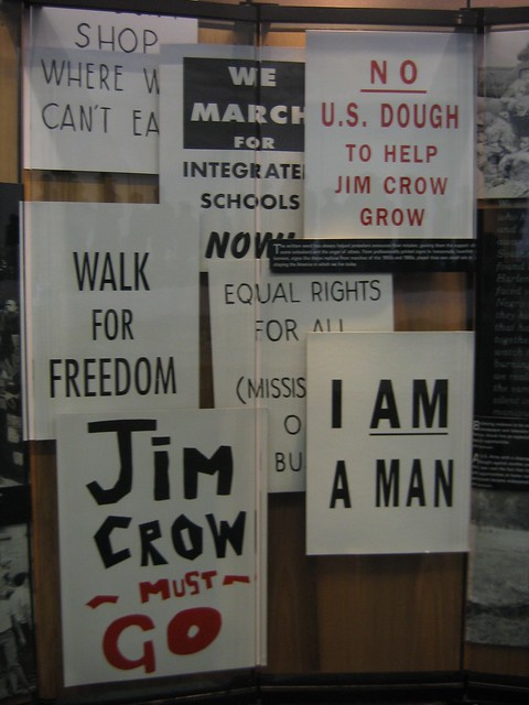 Posters Carried in the Civil Rights March