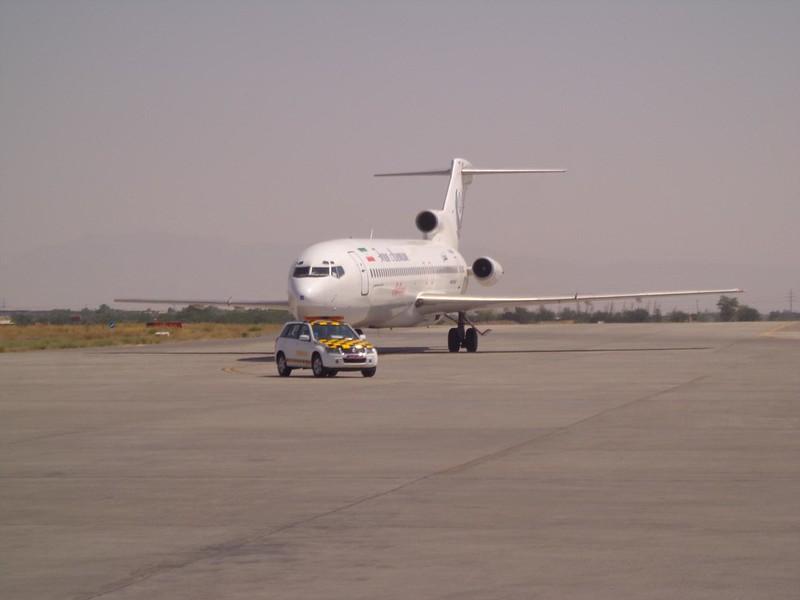 Avião Tashkent Teerão, Uzbequistão até Irão