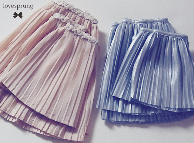 some pleated skirts
