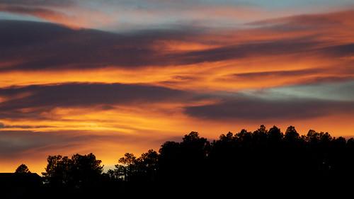 sunset clouds colorado pikespeak
