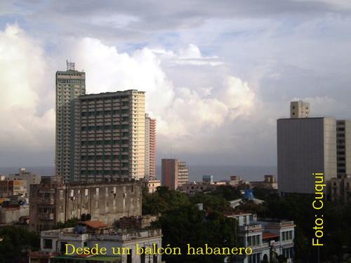 Desde un balcón   habanero