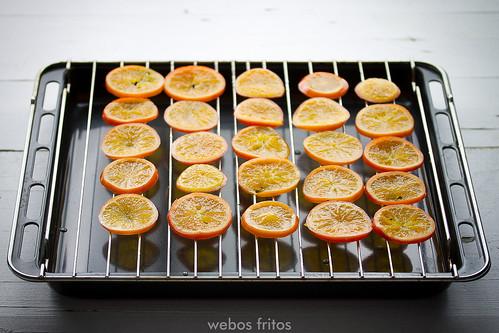 Mandarinas secando