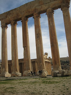 The giant columns of the Temple of Jupiter in Baalbek, Lebanon in 2010.