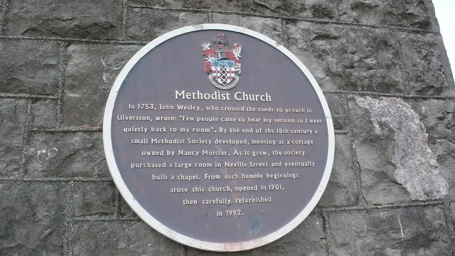 Photo of John Wesley blue plaque