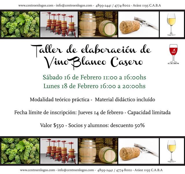 CEBA: Taller de Elaboración de Vino Blanco