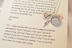 Mark Twain Love Letter Charm Necklace by Ciarrai Studios