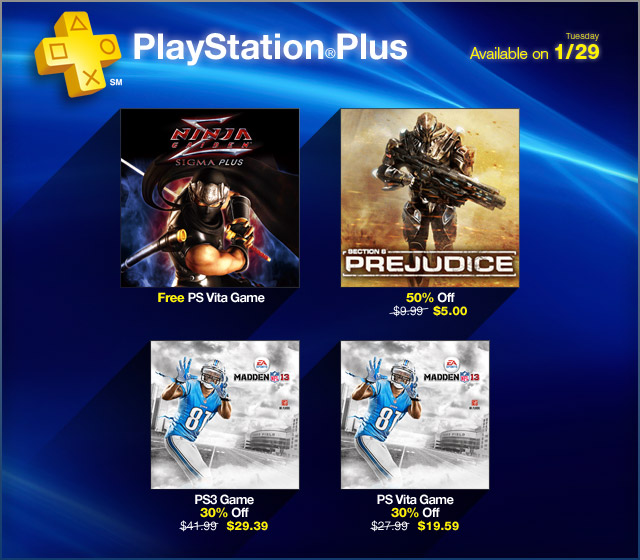 PlayStation Plus Update 1-29-2013