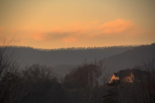 sunset mountain clouds twilight lodge hills massanutten