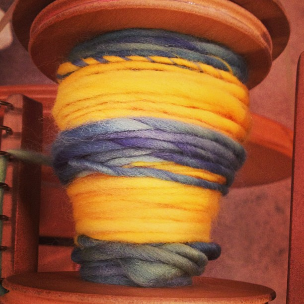 Just posted a short #monthofloveyarn spinning video on Vine! (I'm taraswiger, of course!)