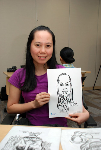 caricature live sketching for Khoo Teck Puat Hospital, Nurses' Day - 15