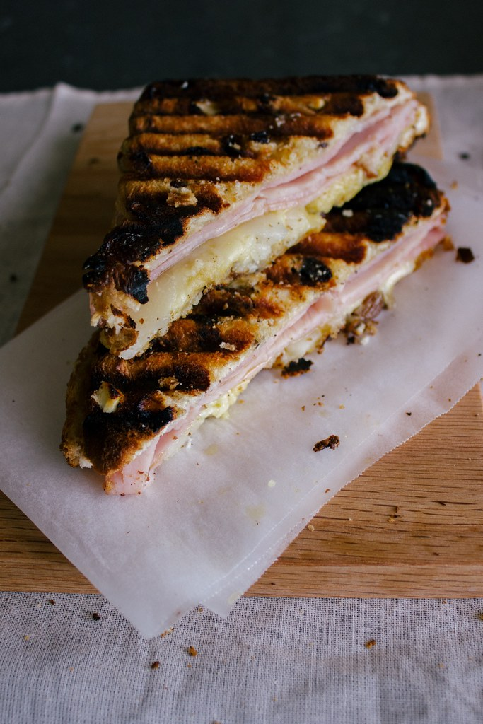 Cheese, Ham and Pear Toastie