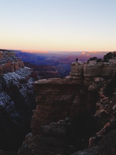 Max Monty at sunrise, right before we hiked to the bottom. Grand Canyon National Park