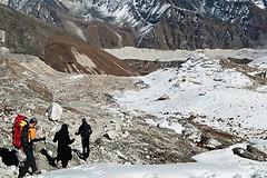 Abstieg vom Renjo La, 5360 m, nach Gokyo. Foto: Archiv Härter.