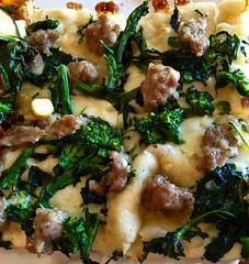 sausage and broccolini pizza at Piccolo Forno Pizz…