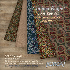 "@ SWANK ~ [CIRCA] - ""Juniper Ridge"" - Area Rug Set - Vintage & Modern"