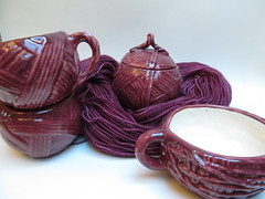 The ceramic yarn collection: Plum Blush