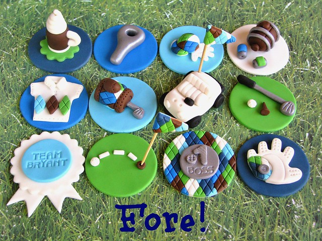 Golf Cupcake Cake Ideas