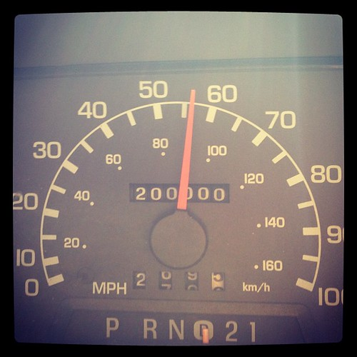 Look who turned over on the drive? 150k the first 10 years; 50k in under two.  Still going strong. #howweroll #dieselrocks #wvo #rv