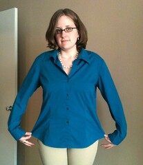 Elastic-Back Shirt Refashion - Before