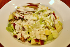 meal, salad, vegetable, vegetarian food, food, dish, cuisine, waldorf salad,