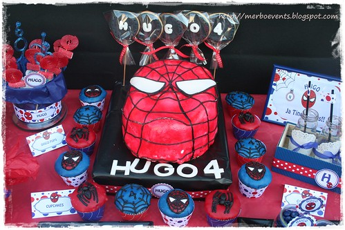 Detalle candy bar.2 Kit de fiesta spiderman. Merbo events