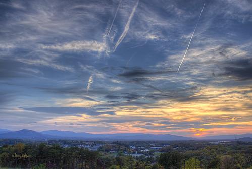 blue sunset sky mountains mill clouds ridge roanoke valley terry fancy salem finale dowtown hdr vinton aldhizer terryaldhizercom
