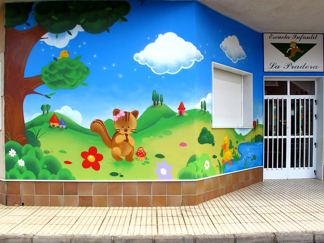 Escuela infantil la pradera flickr photo sharing - Vallas infantiles de colores ...