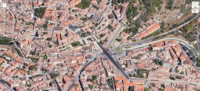 Hola Segovia~ 賽哥維亞。第一次看到建築奇蹟「羅馬水道橋」 Maqueta_acueducto_segovia2