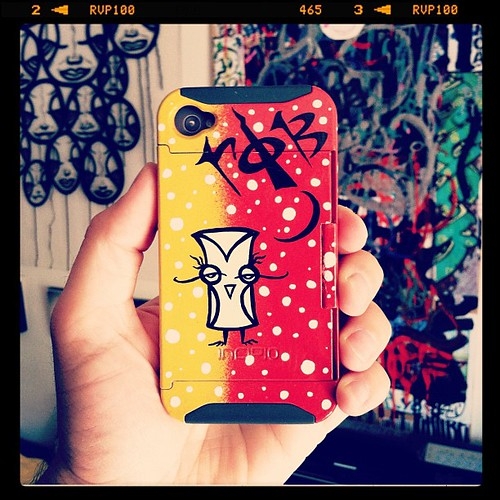 hand painted phone case.