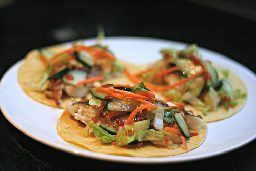 red snapper tacos with cucumber slaw
