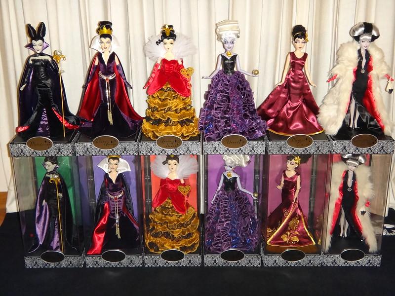 Disney Store 2015 Fairytale Designer Collection LE Heroes Villains Dolls