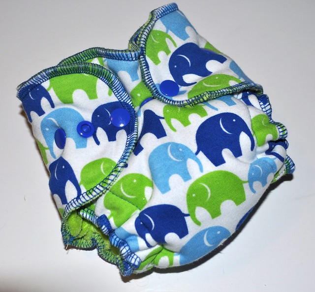 Bumstoppers Newborn Hybrid Fitted Silly Elephants **New Style**
