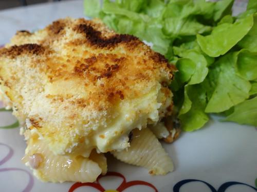 Gratin de p tes au poisson fourchettes et pinceaux - Cuisiner du colin surgele ...