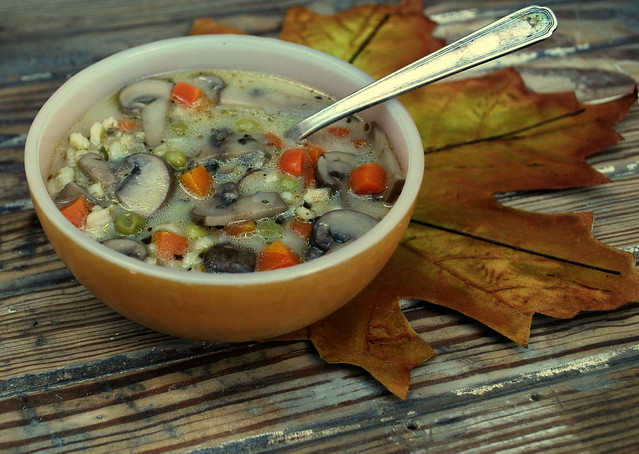 Mushroom Barley Veggie soup