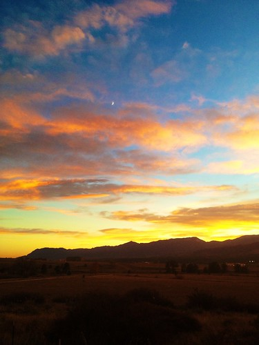 autumn sunset sky moon mountains clouds colorado coloradosprings